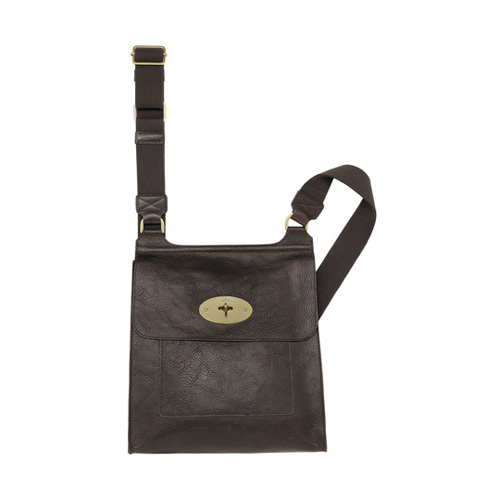 Mulberry Antony Messenger Chocolate Natural Leather