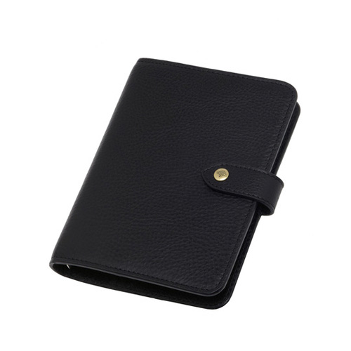 Mulberry Pocket Book Black Natural Leather