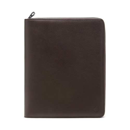 Mulberry Simple Document Folio Chocolate Small Classic Grain