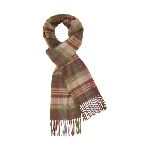 Mulberry Check Scarf Heritage Merino Cashmere Blend