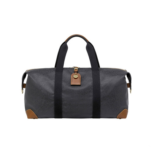 Mulberry Small Clipper Black Scotchgrain With Cognac Trim