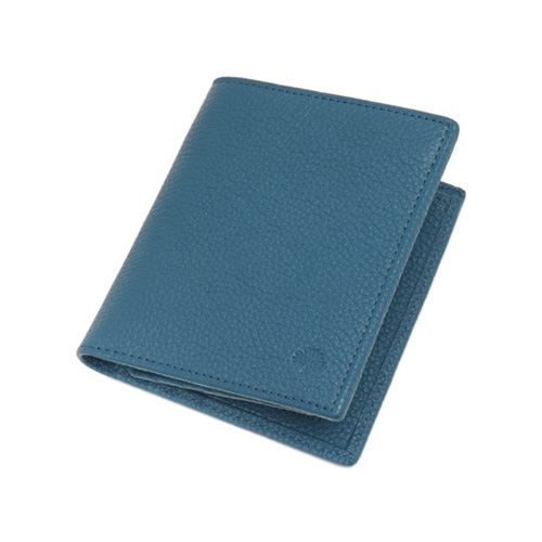 Mulberry Mini Tri Fold Wallet Steel Blue Small Classic Grain