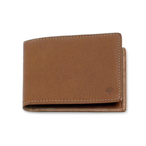 Mulberry 8 Card Wallet Oak Natural Leather