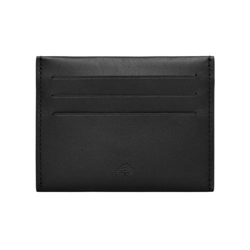 Mulberry Somerton Credit Card Slip Black Smooth Saddle