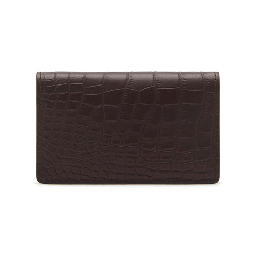 Mulberry Card Case Chocolate Croc Print