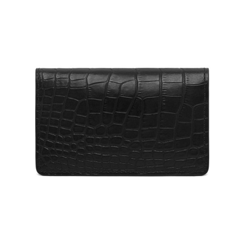 Mulberry Card Case Black Croc Print