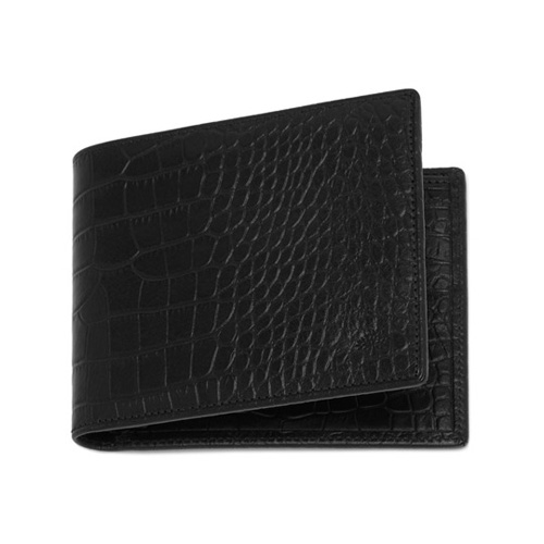 Mulberry 8 Card Wallet Black Croc Print