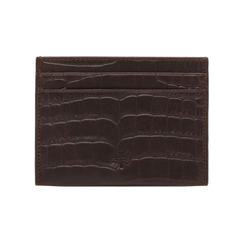 Mulberry Credit Card Slip Chocolate Croc Print