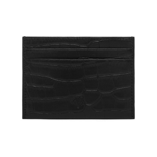 Mulberry Credit Card Slip Black Croc Print