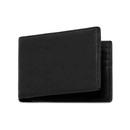 Mulberry 8 Card Wallet Black Natural Leather