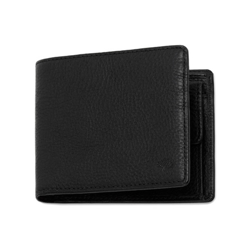 Mulberry Coin Wallet Black Natural Leather