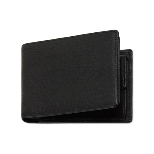 Mulberry 8 Card Coin Wallet Black Natural Leather