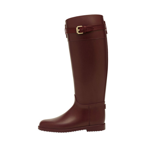 Mulberry Rain Boot Oxblood Rubber