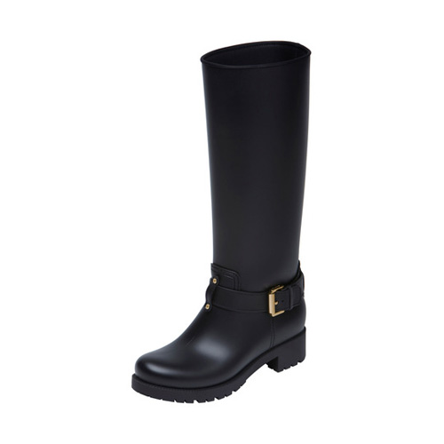 Mulberry Biker Rain Boot Black Rubber