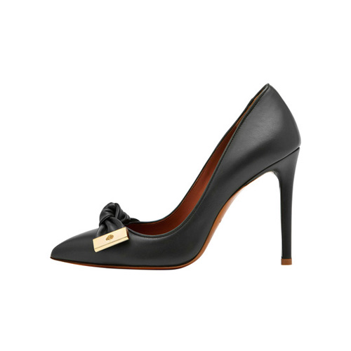 Mulberry Kensington High Heel Pump Black Silky Nappa