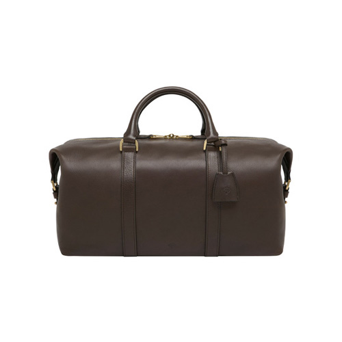Mulberry Small Clipper Chocolate Natural Leather