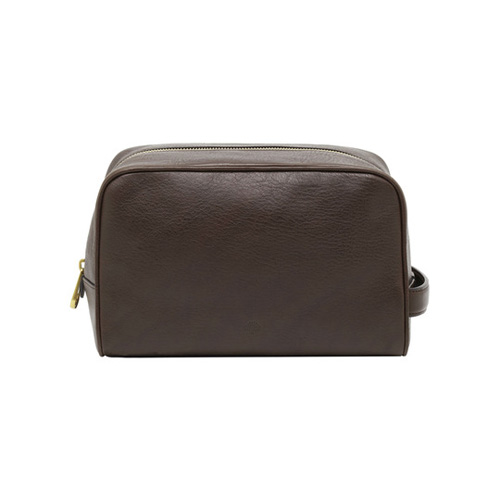 Mulberry Wash Case Chocolate Natural Leather