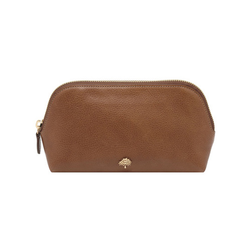 Mulberry Make Up Case Oak Natural Leather
