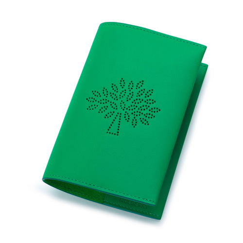 Mulberry Blossom Passport Cover Jungle Green Calf Nappa