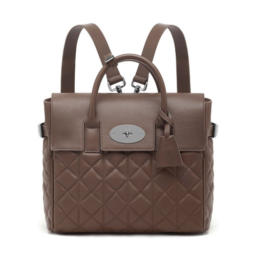 Mulberry Cara Delevingne Bag Taupe Quilted Nappa