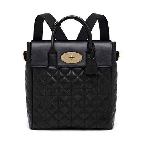 Mulberry Large Cara Delevingne Bag Black Quilted Lamb Nappa