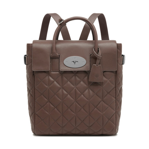 Mulberry Large Cara Delevingne Bag Taupe Quilted Nappa