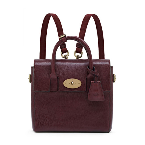 Mulberry Mini Cara Delevingne Bag Oxblood Natural Leather