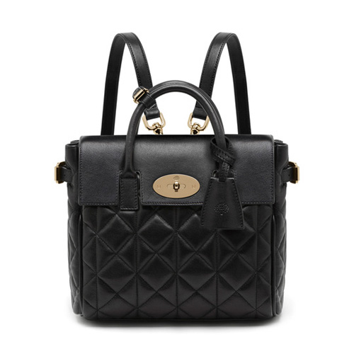 Mulberry Mini Cara Delevingne Bag Black Quilted Lamb Nappa