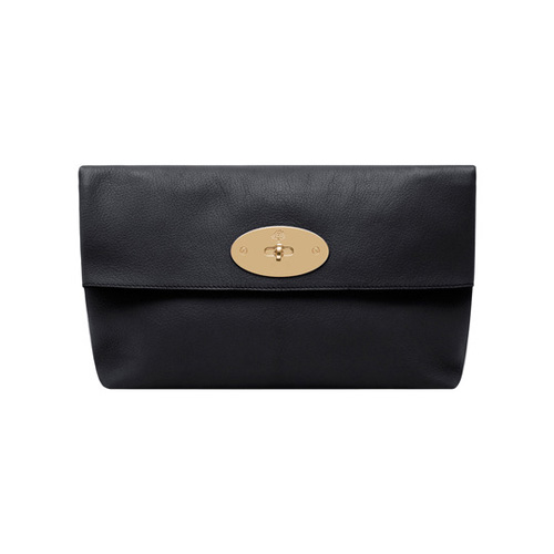 Mulberry Clemmie Clutch Black Glossy Goat
