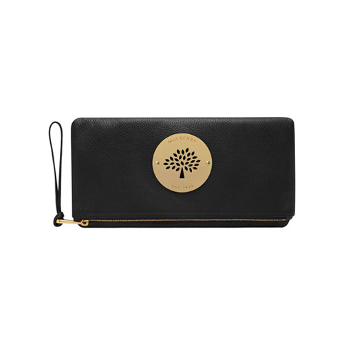 Mulberry Daria Clutch Black Spongy Pebbled