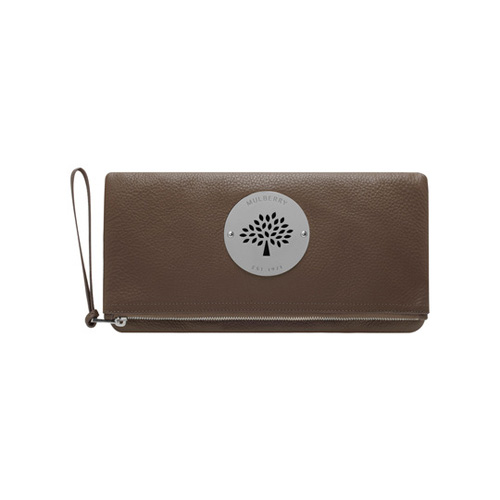 Mulberry Daria Clutch Taupe Spongy Pebbled
