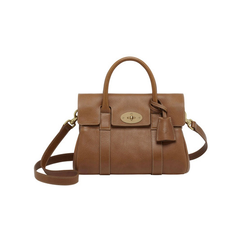 Mulberry Small Bayswater Satchel Oak Natural Leather With Brass