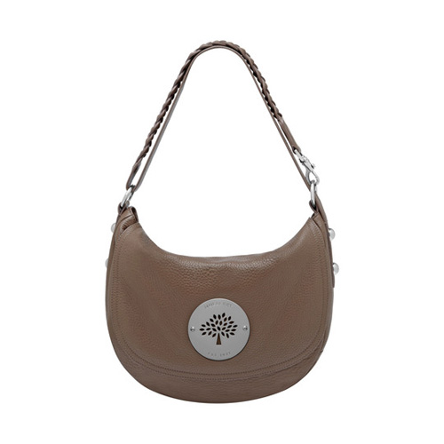 Mulberry Daria Satchel Taupe Spongy Pebbled