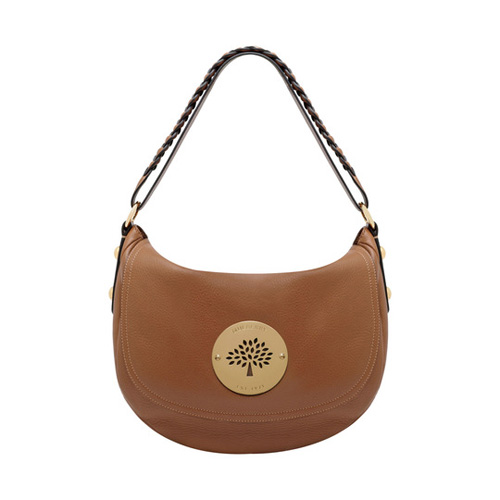Mulberry Daria Satchel Oak Spongy Pebbled