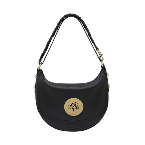 Mulberry Daria Satchel Black Spongy Pebbled