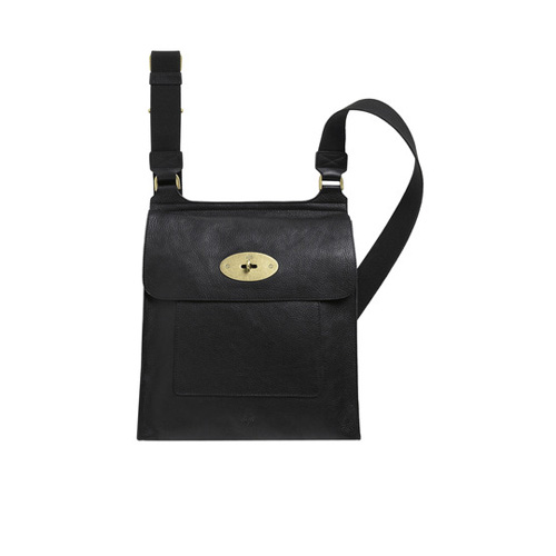 faad5b2dc6be New Mulberry Antony Messenger Black Natural Leather For Sale
