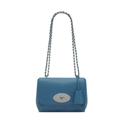Mulberry Lily Steel Blue Small Classic Grain