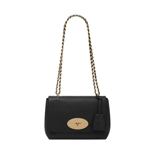 Mulberry Lily Black Glossy Goat With Soft Gold