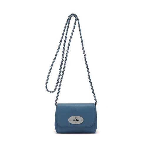 Mulberry Mini Lily Steel Blue Small Classic Grain
