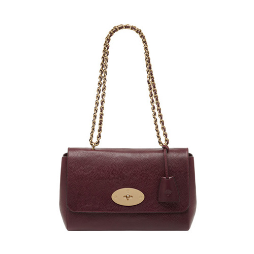 Mulberry Medium Lily Oxblood Natural Leather