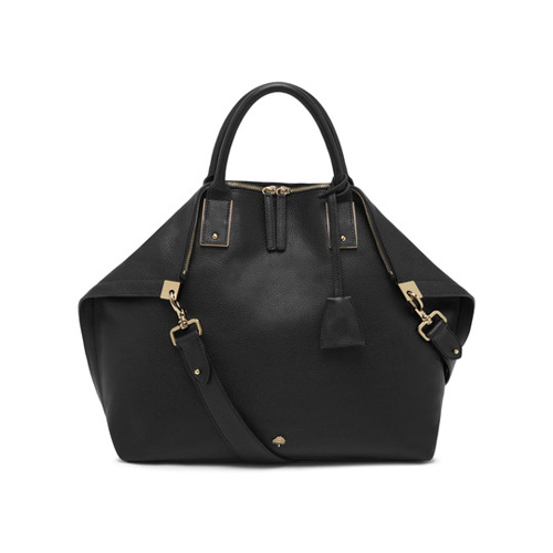 Mulberry Alice Zipped Tote Black Small Classic Grain
