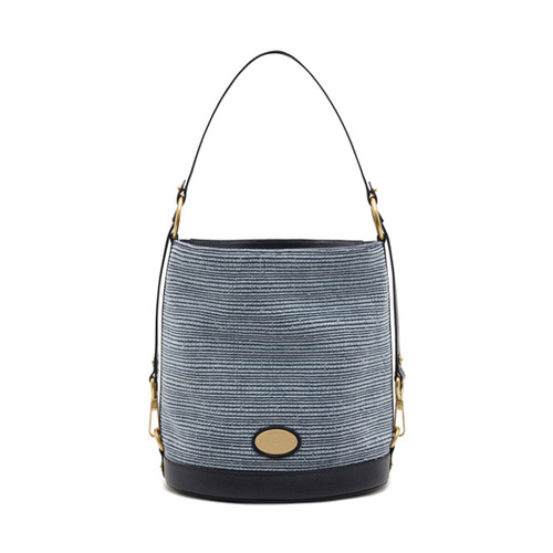 Mulberry Jamie Midnight Blue Mixed Denim & Natural Leather
