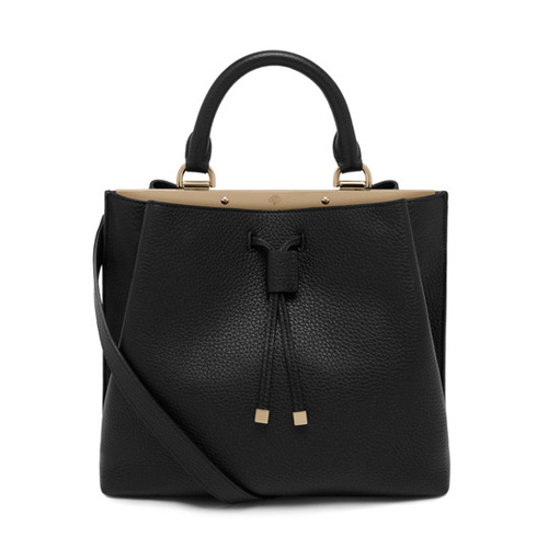 Mulberry Small Kensington Black Small Classic Grain