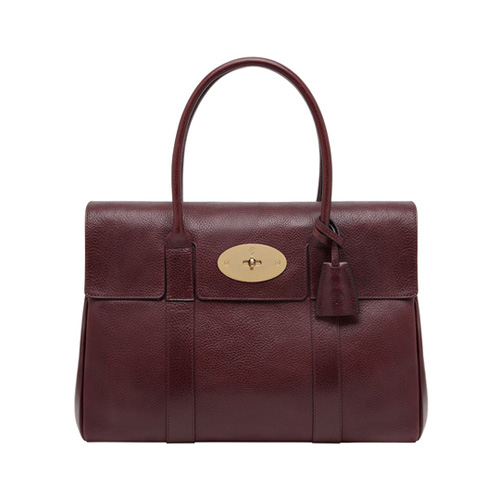Mulberry Bayswater Oxblood Natural Leather