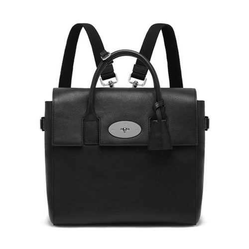Mulberry Cara Delevingne Bag Black Natural Leather