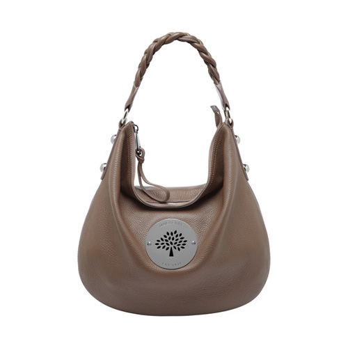 Mulberry Medium Daria Hobo Taupe Spongy Pebbled