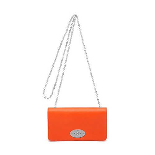 Mulberry Bayswater Clutch Wallet Mandarin Small Classic Grain