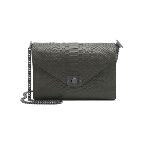 Mulberry Delphie Mole Grey & Black Silky Snake Leather