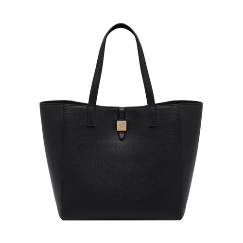 Mulberry Tessie Tote Black Soft Small Grain