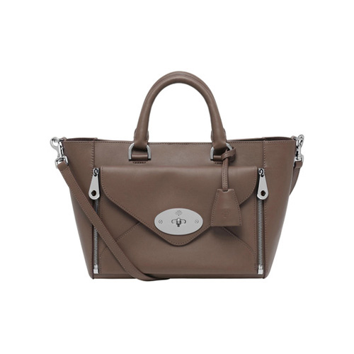 Mulberry Small Willow Tote Taupe Silky Classic Calf With Nickel